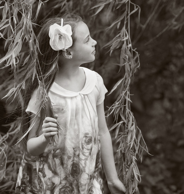 girl in willow tree